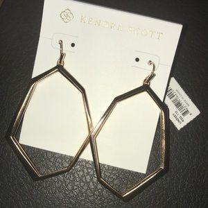 NWT Kendra Scott Lindsey Drop Earrings- Rose Gold